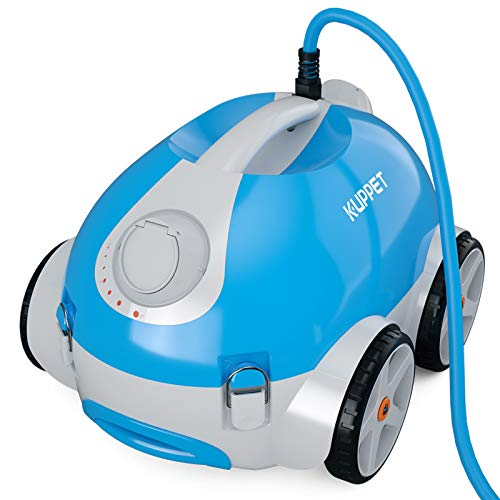 KUPPET Automatic Pool Cleaner - Robotic In-Ground/Above Ground Pool Cleaner with Wall Climbing Function, Large Filter Basket and Tangle-Free Cord Up to 50 Feet