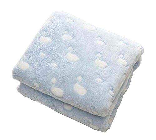 [Bleu] Coral Velvet Throw Blanket Couch Couverture pour bébé