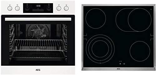 AEG HC3013WS31 EEK: A - Juego de cocina empotrable (EEB331000W + HE604070XB+TR3LV), color blanco