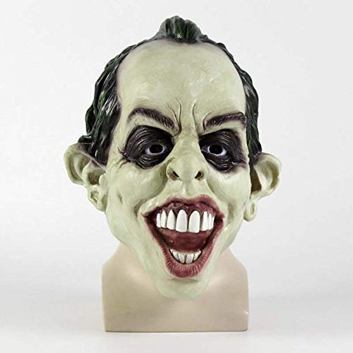 JNKDSGF Horror maskLatex Joker Masker Film Batman De Donkere Ridder Cosplay Horror Enge Clown Masker Latex Grappige Party Props