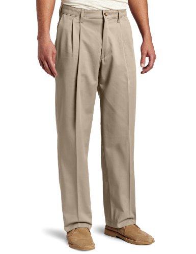 Lee Men's Big-Tall Comfort Waist Custom Fit Pleated Pant, Mid-Khaki, 52W x 30L
