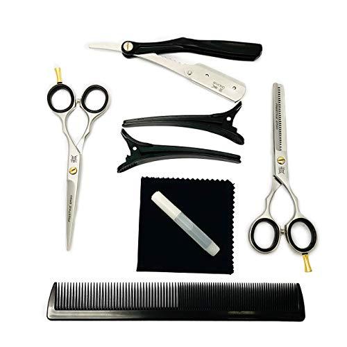 Juego de tijeras profesionales de peluquería de 5.5 pulgadas solamente, tijeras de corte de pelo de salón de acero inoxidable acabado mate