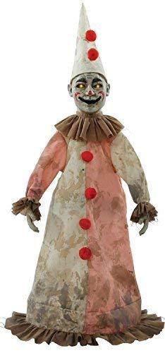Fancy Me 81cm Bewegung Sensible Leuchtend & Geräusche Horror Clown Besessen Gejagter Puppe Halloween Party Dekoration Zubehör Requisit