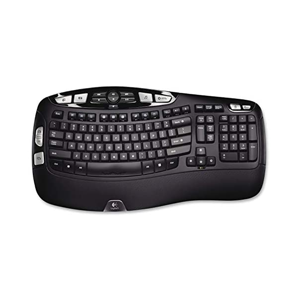 Logitech K350 Wireless Wave Keyboard with Unifying Wireless Technology – Black