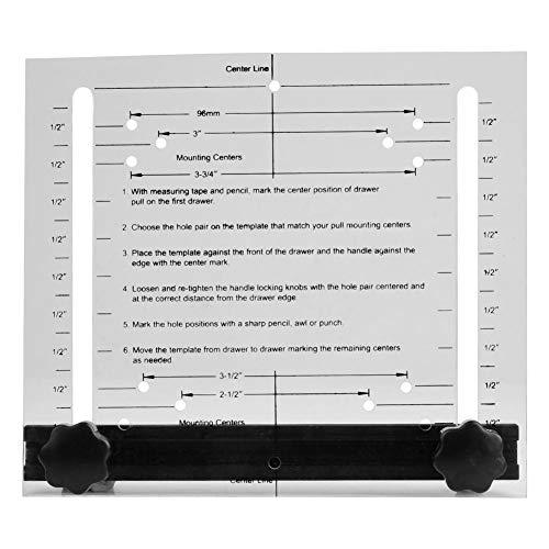 Verstelbare lade standaard gatafstand deur trekknop exacte installatie gereedschap houtbewerkingsgereedschap