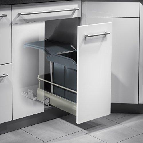 Hailo Solo Küchen-Abfalleimer, Plastik, Grau, One Size