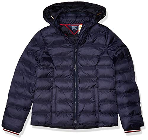 Tommy Hilfiger Damen ADP W TULLA QUILTED JACKET-SOLID Jacke, Masters Navy, X-Small