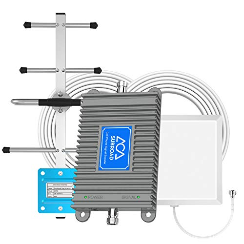 Cell Phone Signal Booster AT&T T-Mobile US Cellular Band 12/17 4G LTE 700MHZ Cell Phone Booster Repeater Amplifier Antenna Kit Boosts Voice and Data for Home and Office