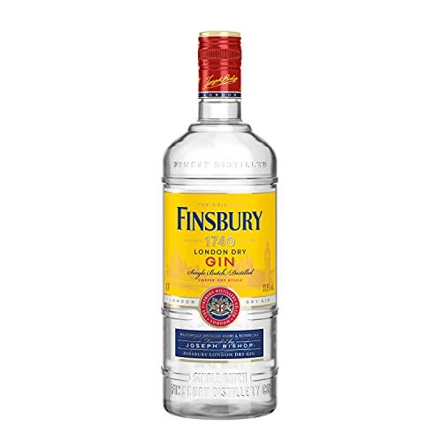 Finsbury London Dry Gin mit 37,5{56ccd3046b47d9cc5948c7d9b9c48dacb10d155294ef153cbd7440f0c824ea4f} vol. Der Klassiker aus London seit 1740, Wacholder und Zitrusnoten, Perfekt für Gin & Tonic - 1 x 0,7l