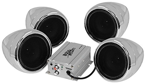 BOSS AUDIO MC470B 1,000-Watt Amplified Motorcycle/All-Terrain Speaker & Amp System (Bluetooth(R) Audio Streaming)