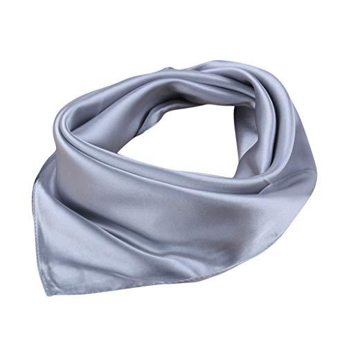 MOTOCO Einfarbig Bandana Kopftuch Halstuch Neck Gaiter Einstecktücher Handgelenk Unisex Multifunktionstuch (60X60CM.Grau)