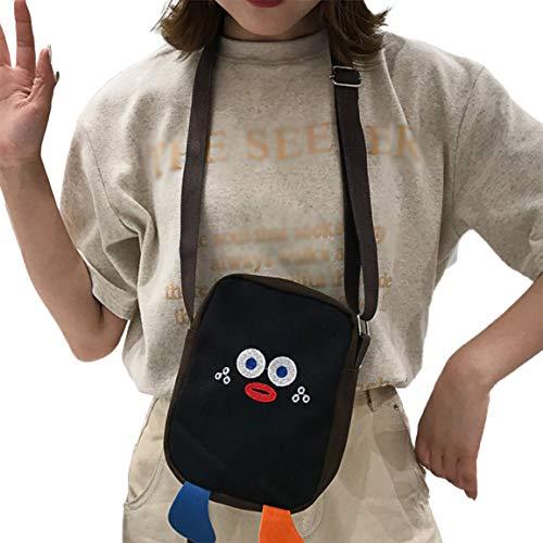 Kinder lustige niedliche kleine Tasche Grundschule Schüler Cartoon Persönlichkeit Umhängetasche kleines Kind Messenger Leinwand Tasche