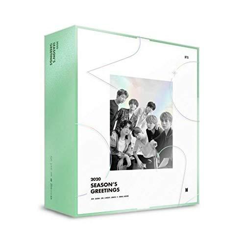 BTS Bangtan Boys – Conjunto de calendário de saudações da temporada BTS 2020 + DVD + conjunto de cartões fotográficos extras