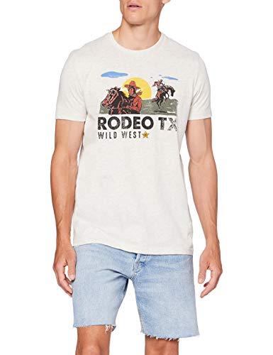 Springfield 5Mi Comic Rodeo Mel-c/41 Camiseta, Gris (Dark_Grey 41), L (Tamaño del Fabricante: L) para Hombre