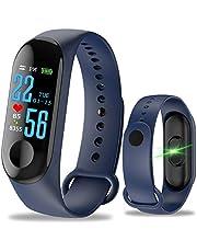 Lilon Waterdichte fitnesstracker, smartwatch, armband, kleurentouchscreen, hartslagmeter, bloeddrukmeter, stappenteller, slaapmonitor, voor dames en heren