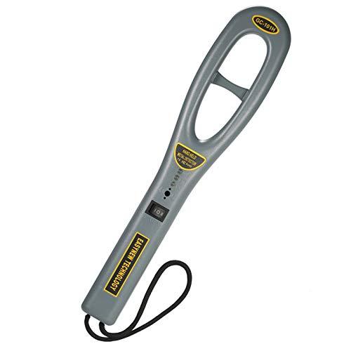 Festnight Detector de metales de mano portátil Detector de metales de inspección de seguridad de alta sensibilidad con vibración de zumbador para control de seguridad