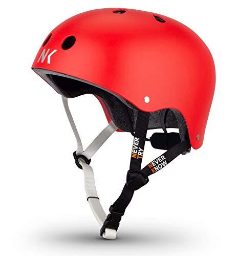 NTNK N11 RED · BMX Fahrrad-Helm Skater E-Roller Inliner Scooter · Kinder & Erwachsene · M (52-56cm)
