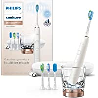 Philips Sonicare DiamondClean Smart 9500 Rechargeable Electric Toothbrush (Rose Gold)