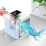 Vogvigo Condizionatori Portatili Mini Raffreddatore d'Aria Multifunzionale Ultra Potente e 7 luci LED a Colori con Touch Screen LCD Serbatoio d'Acqua Grande da 1000 ml Raffreddatore