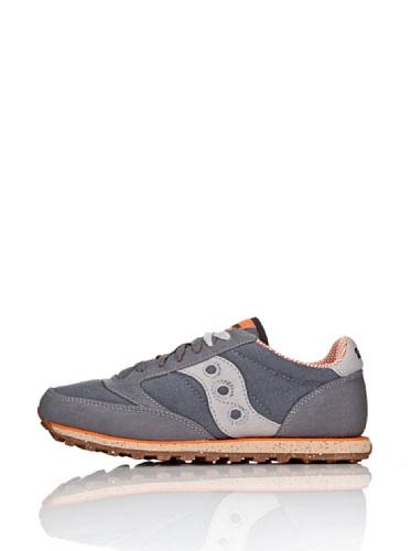 Saucony mens Jazz Low Pro Vegan Sneaker, Charcoal/Orange, 10.5 M US
