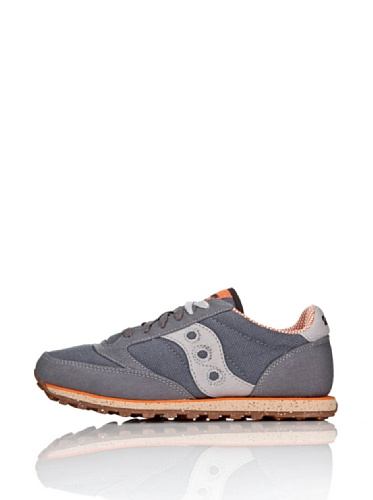 Saucony mens Jazz Low Pro Vegan Sneaker, Charcoal/Orange, 10.5 M US
