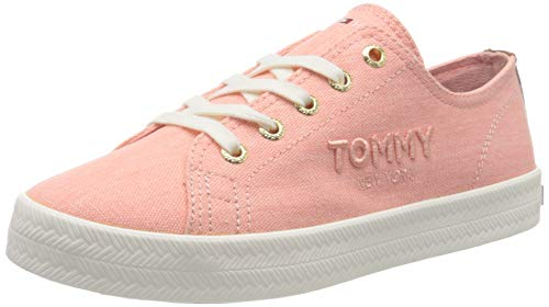 Tommy Hilfiger Womens Foxie 4D Sneaker, Washed Watermelon Pink, 40 EU