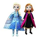 lhtczzb 2 Unids / Set 40Cm Juguete Frozen 2 Elsa Anna Olaf Muñecos De Peluche De Peluche Suave, Dibu...