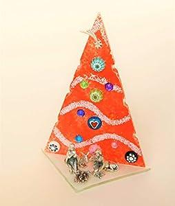 Murano Árbol de Navidad rojo de cristal hecho a mano en Italia regalo
