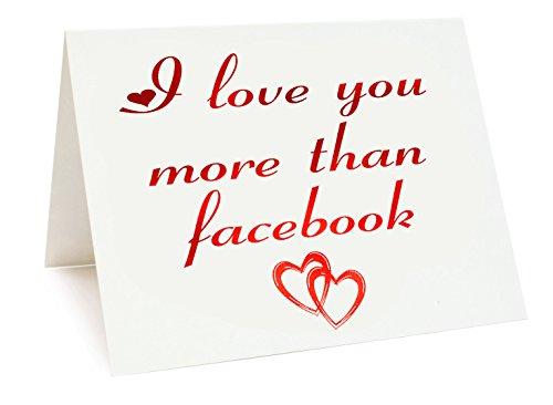 A5 Verijdelde verjaardag/Valentijnsdag/Liefde/Verjaardagskaart - Facebook Themed