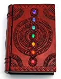 AzureGreen Decorative Boxes Tarot Card Holder Seven Colored Gemstone Chakra Book Box With Hinged Cover