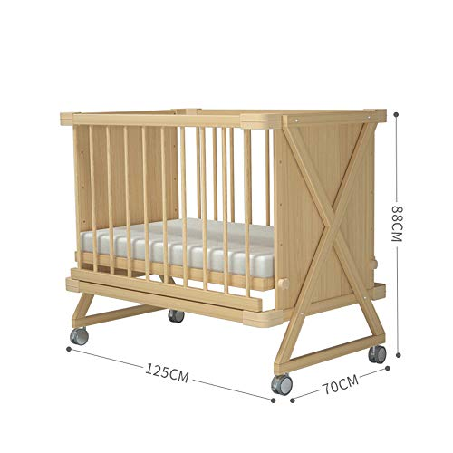 Best Review Of Dzhyy Crib Multi-Function Game Bed Newborn Bed Can Be Stitched Children's Bed,Cream C...