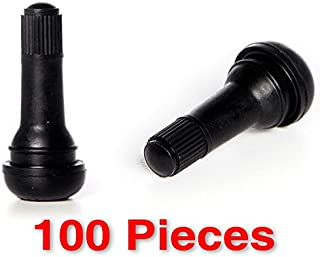 Circuit Performance Black Rubber Valve Stems TR413 30mm (100 Pieces)
