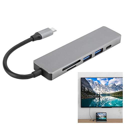 Surebuy Base de expansión de Alta definición de concentrador 6 en 1, para PC, TV, proyector, computadora portátil, para OS X
