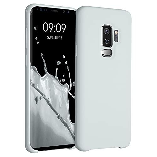 kwmobile Hülle kompatibel mit Samsung Galaxy S9 Plus - Hülle Silikon gummiert - Handyhülle - Handy Hülle in Hellgrau matt