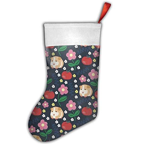 Fashion - Calza da appendere alla calza della Befana, porcellini d'India e mele, decorazione natalizia con passante da appendere