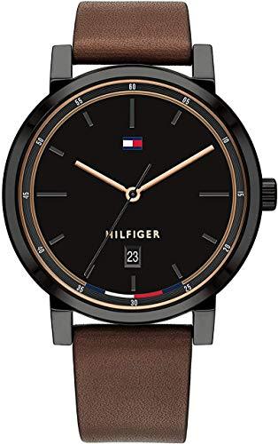 Tommy Hilfiger Reloj para de Cuarzo con Correa en Cuero 1791736