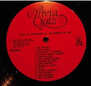 Trivia Quiz - The Radio Trivia Show December 23-29 1985 LP