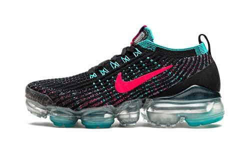 Nike Women's Shoes Air Vapormax Flyknit 3 Black Hyper Pink Blue CZ7988-001 (Numeric_9)