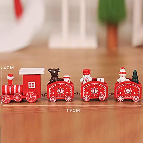 Train Small Wood Christmas Decorations Christmas Small Train Children Kindergarten Festive Home & Garden Home Decor