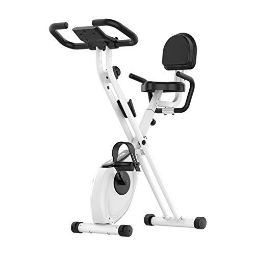 Oven Bicicleta de la Aptitud Trainer, Plegable Silencio Magnética Mini Pedal Control Inicio La Pérdida de Peso de la Bici, Adecuado for Todos (Color : White)