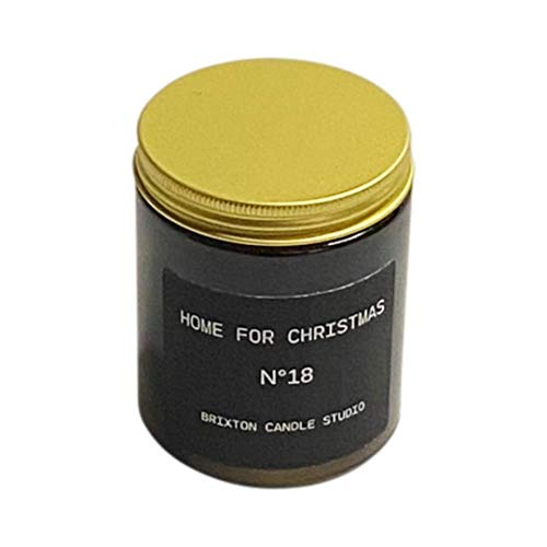 Home for Christmas Soy Blend Wax Holiday, Brixton Candle Studio, Soy Wax Blend Candle, Scented Candle,Home Warming Gift,180g Jar, Hand Poured in the UK