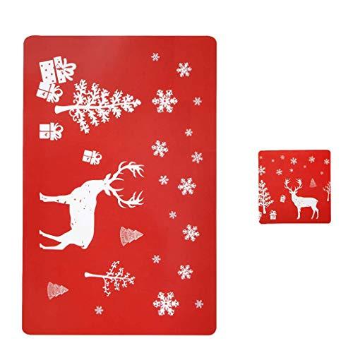 Hohaski PVC Table Mat, Christmas Table Mat, Hotel Tableware Mat, Printed Table Mat, Christmas Ornaments Advent Calendar Pillow Covers Garland Tree Skirt Gift Bags DIY