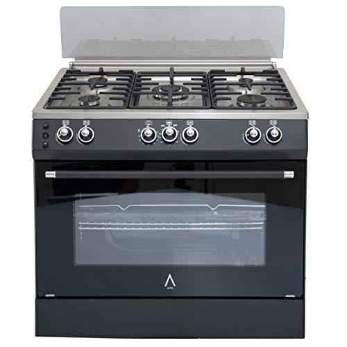 ALPHA Cocina de Gas VULCANO SILVER-90 Rustica. Encendido automático y temporizador en horno. **Alta Gama**