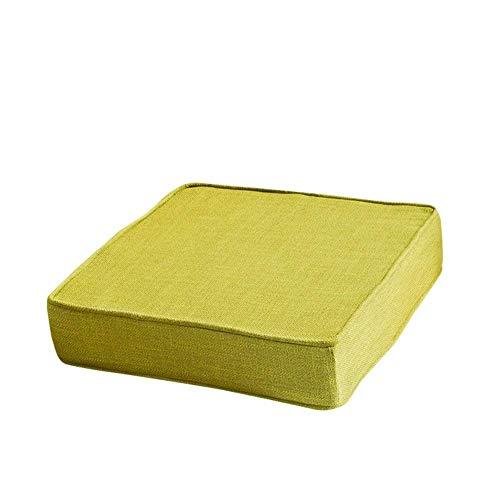 Cojín de asiento Sobrecosado cuadrado, esponja espesando cojines para silla muebles de patio almohadillas de asiento de suelo alimento para piezas de silla al aire libre para exteriores verde 50x50x5c