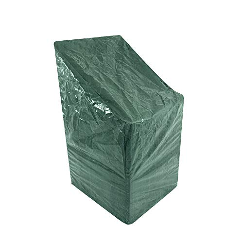 ALAYSTAR Heavy Duty Garden Patio Furniture Stacking Chair Cover - Keeps your Chairs All Year Round from the Weather Dirt and Grime - Easy to clean - weather-resistant and dust-proof