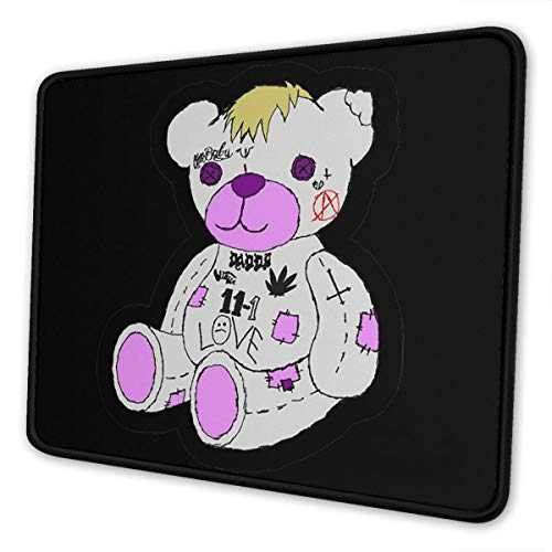Lil Peep Bear Mouse Pad Non-Slip Rubber Gaming Mouse Pad Rectangle Mouse Pads for Computers Game Office