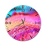 AMGSWAZ Silent Metal Frame Decorative Wall Clock Battery Operated Non Ticking for Living Room Bedroom Office 28cm