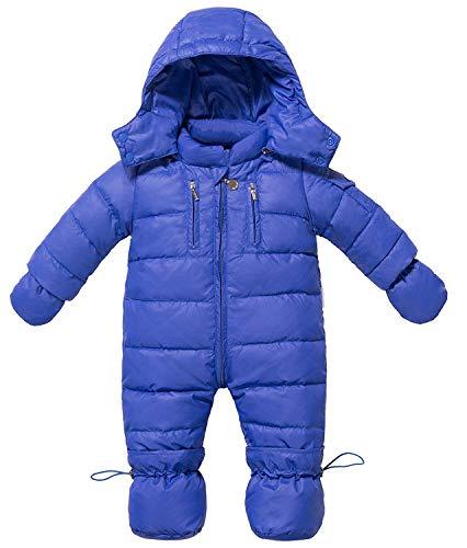 Zoerea ZOEREA Baby Mädchen Schneeanzug Daunenanzug Daunenmantel Strampler Winter Babybekleidung für 0-18 Monate(Blau, Etikette 110)