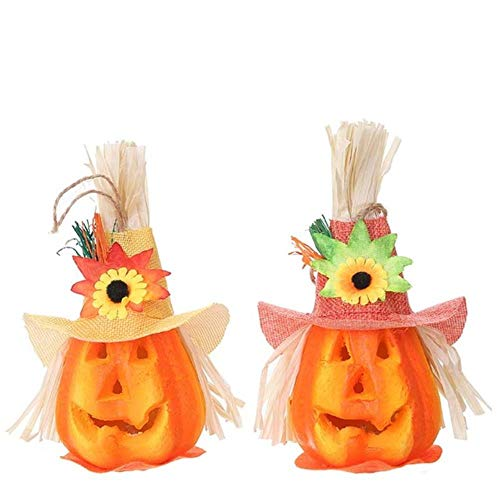 Halloween Pompoen Lantaarns Schuim Scarecrow Lights Festival Party Bar Gloeiende Lamp Venue Schik Props DIY Decoraties 2 Stks