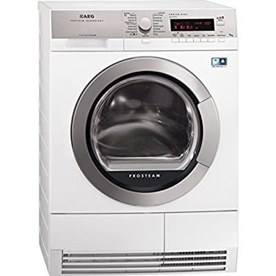 AEG T88595IS freestanding Front-load 9kg A++ White - Tumble Dryer (Freestanding, Front Load, Heat Pump, White, Left)